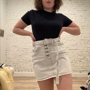 BDG White Denim Skirt